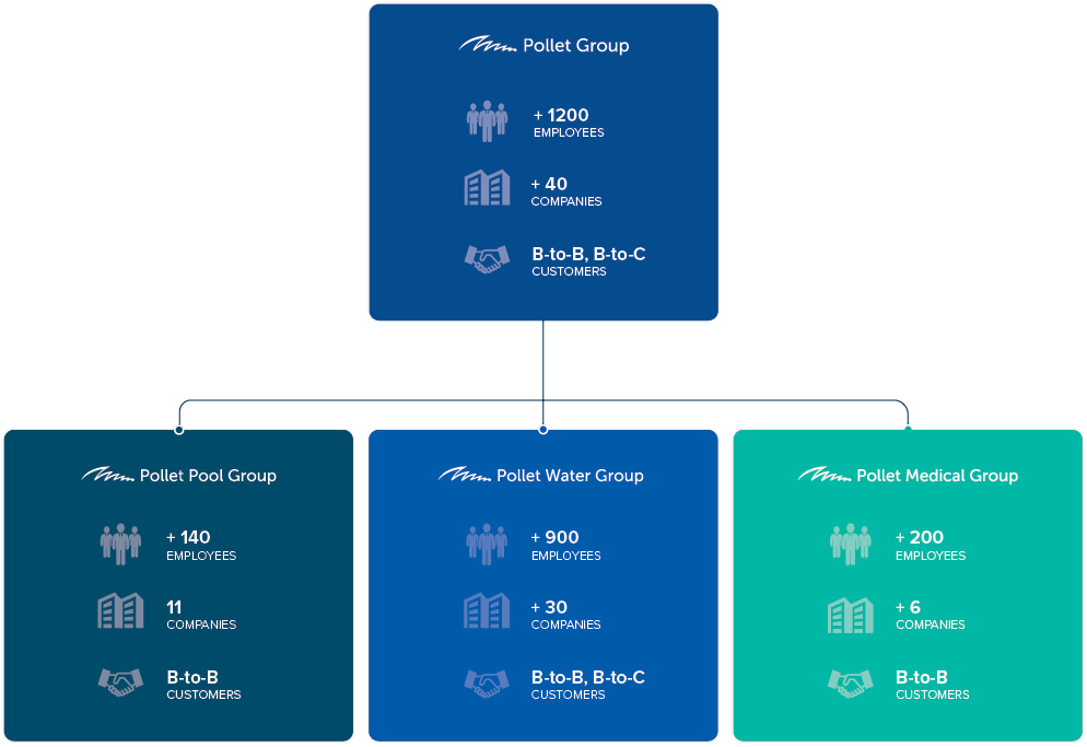 Company structure of the Pollet group